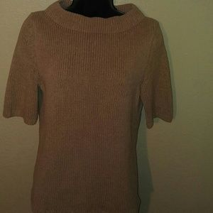 Talbots loop neck sweater tan size small